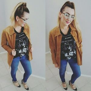 {Vintage GAP} Suede Leather Jacket