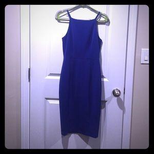 Gorgeous Blue Halter Midi Dress