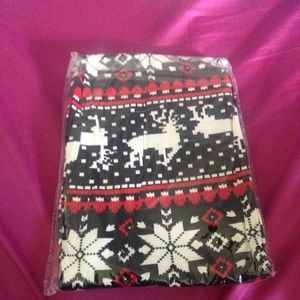 LA 12 ST Pants - Reindeer and Snowflake leggings