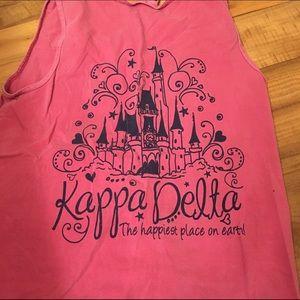 Comfort Colors Tops - Kappa Delta Tank Top