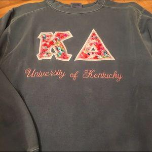 Comfort Colors Tops - Kappa Delta Letter Sweatshirt