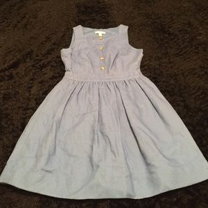 J Crew pleated skirt with buttons