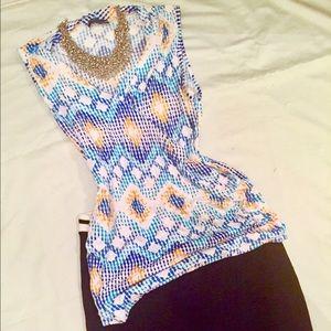 Market & Spruce Tops - V neck wrap blouse