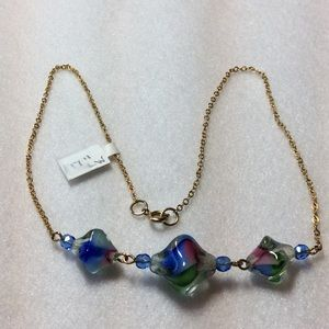 Jewelry - Lampwork Glass Beaded Necklace