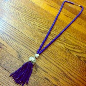 Francesca's Collections Jewelry - ROYAL BLUE Tassel Beaded Bling Necklace