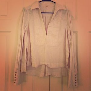V Neck long sleeve blouse