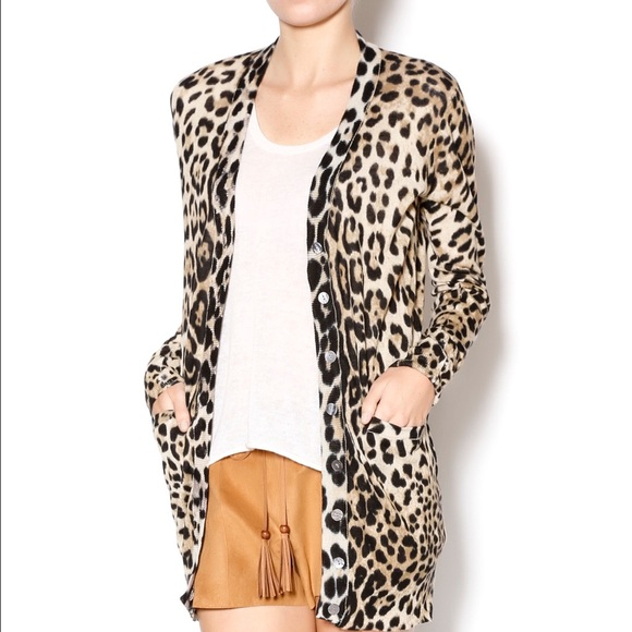 73% off Ellison Sweaters - Ellison Leopard Print Cardigan from ...