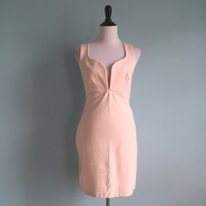 Blush Dresses & Skirts - Blush Plunge Neck Dress