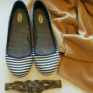 Dr. Scholl's Shoes - Striped Flats