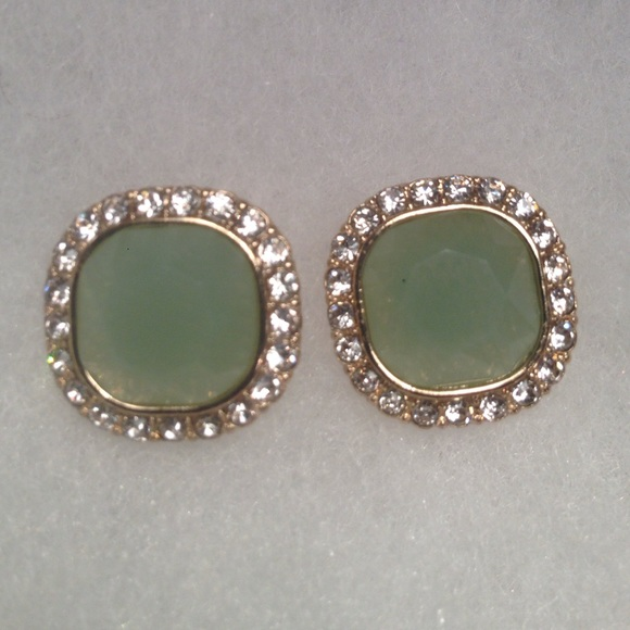1a540cba7 Boutique Jewelry | Stunning Green Stone Stud Earrings | Poshmark