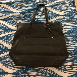 Zara black leather tote
