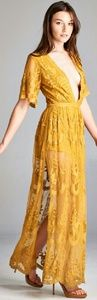 Honey Punch Dresses & Skirts - Hobo Chic Deep V Maxi Dress. New with Tags!!