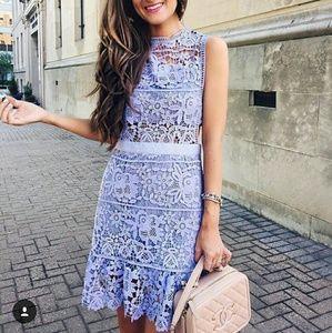 Goodnight Macaroon  Dresses & Skirts - Lilac Cutout Shift Dress