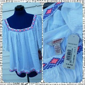Arizona Jean Company Tops - ☆12/14/16 HP☆ Embroidered Boho Top