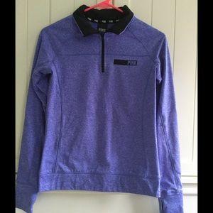 VS Pink Half Zip Sweathshirt XS
