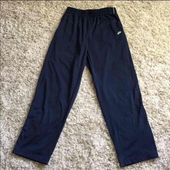 0c211aa4a14569 Nike Pants | Mens Navy Track Sweat Zipper Leg Xl | Poshmark