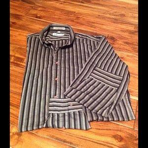 monte carlo Shirts - Mens Dress or Casual long sleeve shirt - 16-16-1/2