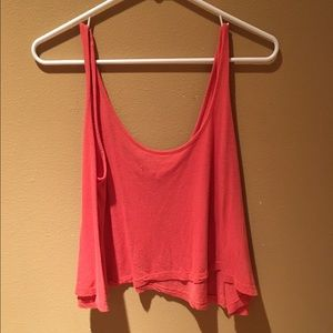 Women's small coral crop top