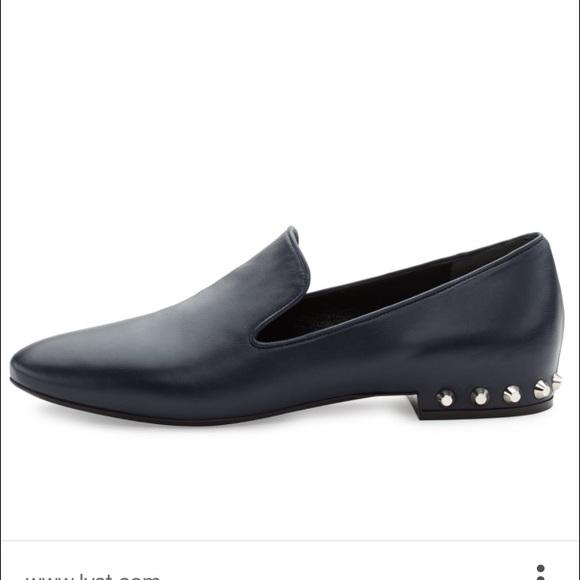 619a3674a7be Balenciaga Stud-heel leather loafers sz 37