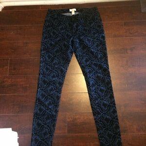 Forever 21 Pants - Velveteen Damask Patterned skinny jeans