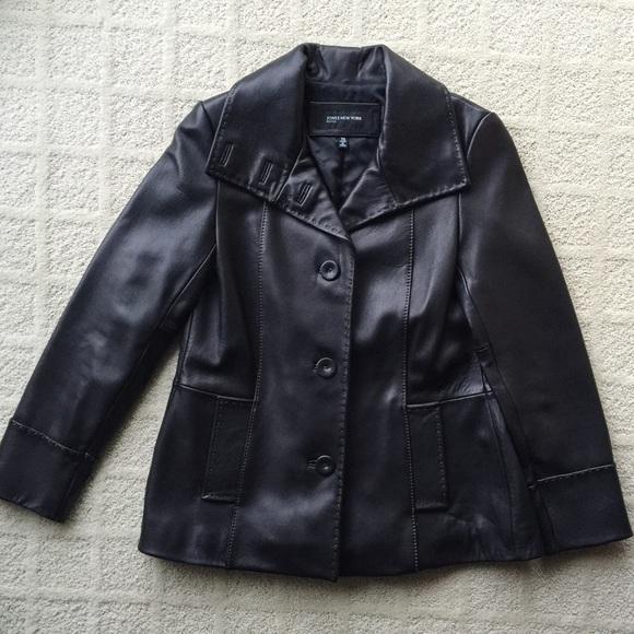 ec7421d6d Gorgeous Petite Blk Jones New York Leather Jacket