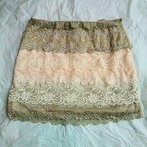 silence + noise Dresses & Skirts - Silence + Noise Lace Mini Skirt