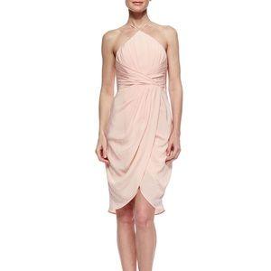 Zimmermann Pink Silk Gathered Halter Dress sz 2/M