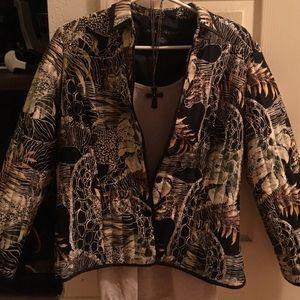 anne carson Jackets & Blazers - 💯 silk Anne Carson boutique coat/ jacket/ cover
