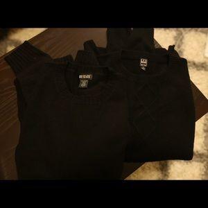 Ike Behar Other - 2 Black Men's Cashmere Sweaters BUNDLE
