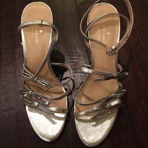 New Kate Spade New York Sally Silver Heels