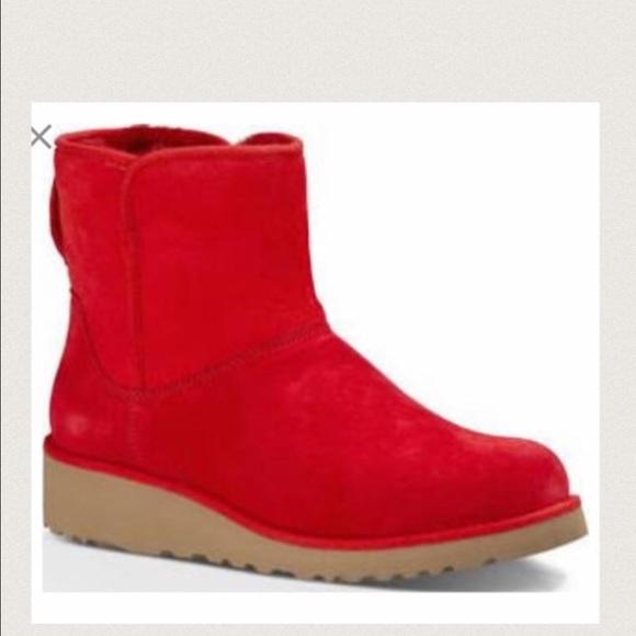 f64ba8a3cd55 UGG Shoes | Nwt Rare Kristen Red Slim Boots | Poshmark
