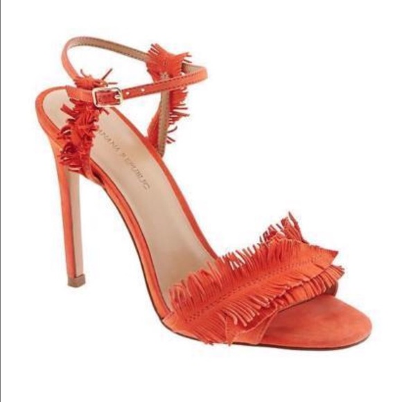 26741bb9219d Banana Republic Shoes - Banana Republic orange fringe heel    stilettos