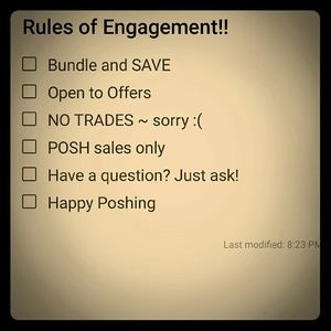 Rules of Engagements and All about me!!!!