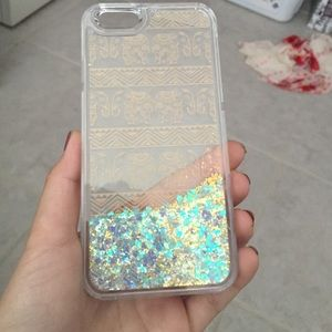 Elephant glitter phone case for iPhone 6/6S