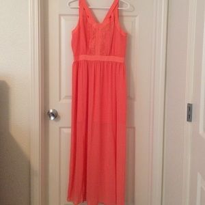 BCBG Coral Dress 👗 Great for Homecoming!