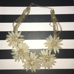 J. Crew Flower Statement Necklace