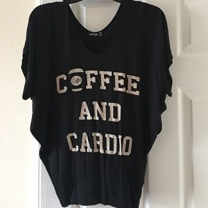 H&M Tops - CLOSET CLEAN OUT•Coffee and Cardio tee•