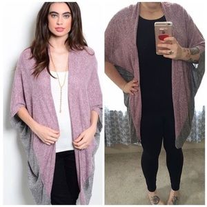 yoyo 5 Sweaters - CLOSET CLEAN OUT•rose and charcoal cardigan•