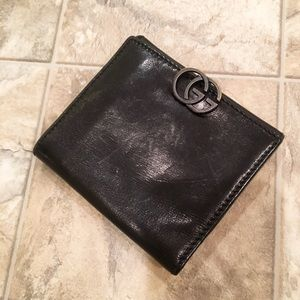 GUCCI VINTAGE Leather Wallet