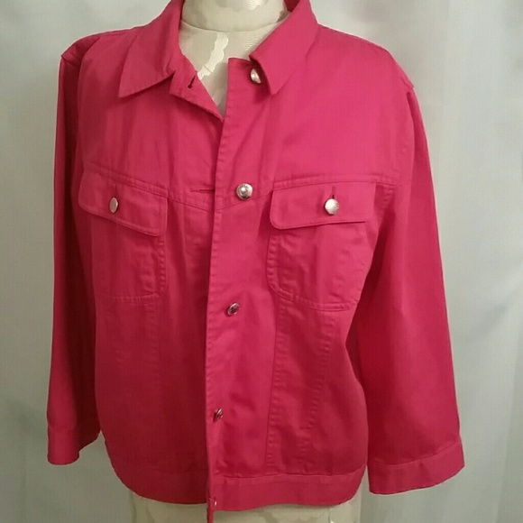 cheap for sale pick up free shipping Hot pink jean jacket