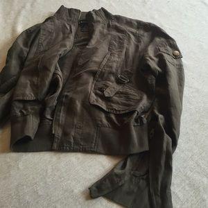 bebe Jackets & Blazers - Bebe silk bomber jacket