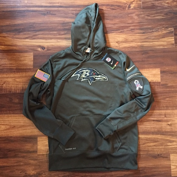 buy online 6691d 9fad5 Baltimore Ravens 2015 Salute to Service Hoodie NEW NWT