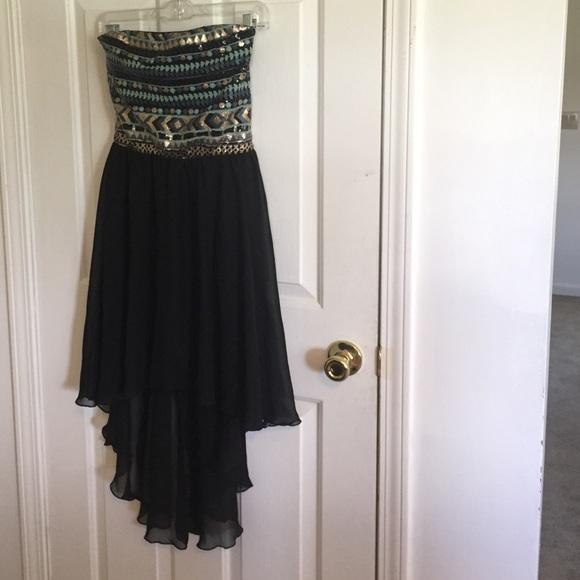 Macys Dresses Macys High Low Sequin Top Strapless Formal Dress