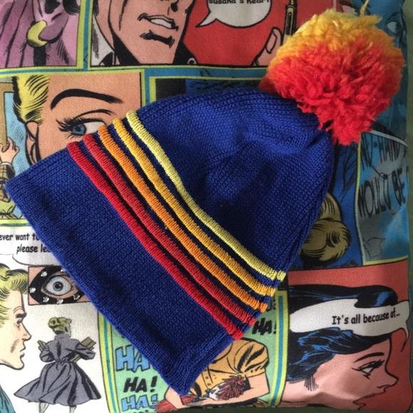 VTG 80 s Wigwam wool puffball hat beanie toboggan.  M 57f283752599fe58fa00611b 1670f472e5b
