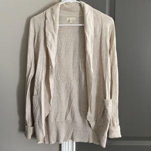 Women's beige cardigan