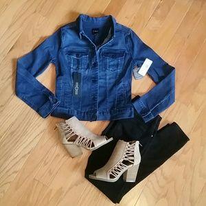 Liverpool Jeans Company Jackets & Blazers - LIVERPOOL DARK WASH DENIM JACKET
