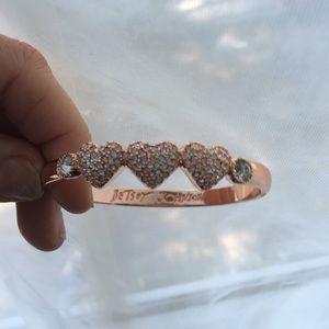 Betsey Johnson rose gold bracelet
