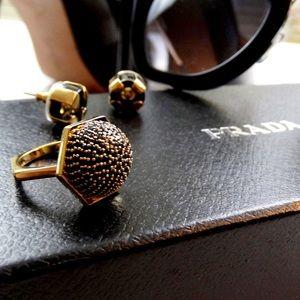 Rachel Zoe Jewelry - Black Pave Dome Ring