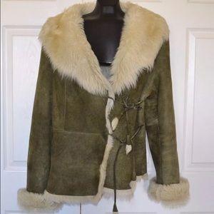 Umberto ferri italy genuine shearling jacket sz L
