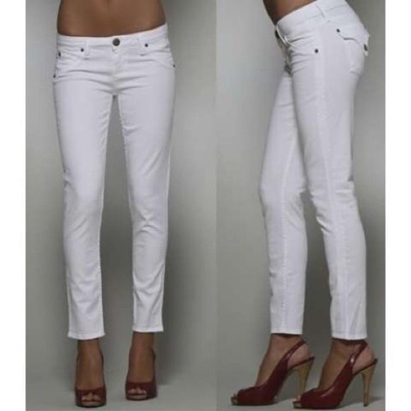 89% off Hudson Jeans Denim - Hudson jeans white skinny sz 26 from ...